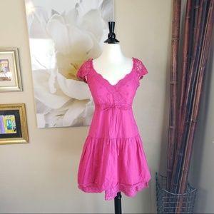 Guess Jeans ~ Pink Crochet Dress ~ Size 7